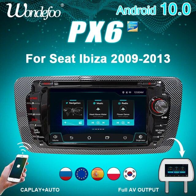 PX6 سيارة نظام ذكي 2 الدين راديو أندرويد 10 شاشة ل مقعد إيبيزا MK4 6J 2009 2013 autoradio مشغلات الفيديو الوسائط المتعددة دي في دي