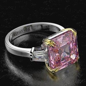 Image 5 - Wong yağmur 100% 925 ayar gümüş oluşturulan Moissanite Citrine elmas taş düğün nişan yüzüğü güzel takı toptan
