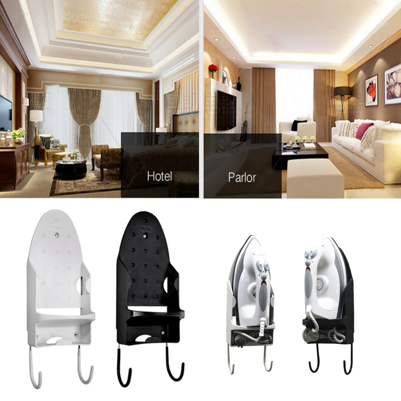 Home Supply Blow Dryer Stand Flat Iron Board Holder For Cozmo Hotel Wall Electric Iron Hanger Heat Resistant Iron Shelf