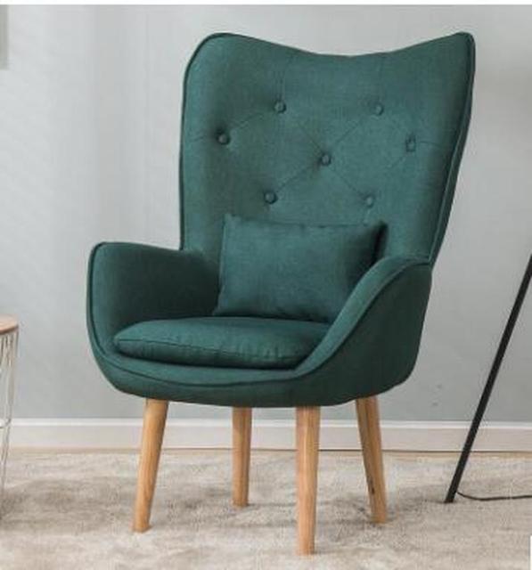 H Nordic Single Living Room Sofa Balcony Apartment Mini Chair Modern Minimalist Sofa Personality Leisure Bedroom Room Chair 4
