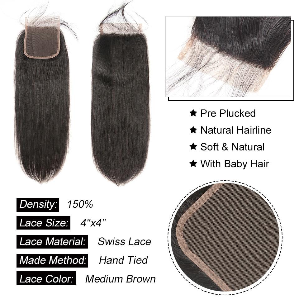 H5324bc01ec524a1698fec7b017c488e3l AliPearl Hair Straight Human Hair 3 Bundles With 5x5 Closure Brazilian Hair Weave Bundles Natural Color Remy Hair Extension