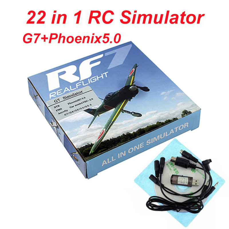22 in 1 RC Flight Simulator 8in1 USB Simulation for Realflight Support G7.5 G7 G6.5 G5 Flysky FS-I6 TH9X Phoenix5