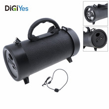 Mini Outdoor Subwoofer Bluetooth Loudspeaker with FM/TF/AUX/USB Fuction Microphone for Home/Party/Outdoor Activities/Speech