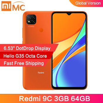 "Global Version Xiaomi Redmi 9C 3GB 64GB Smartphone Helio G35 Octa Core 6.53"" DotDrop Display 13MP Rear Cameras 5000mAh"