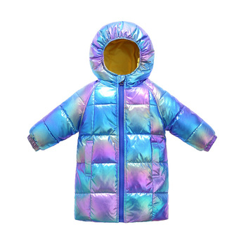 baby boy winter jackets 2018 kids hooded cotton outerwear parka coat clothes for teen boys 5 6 7 8 9 10 11 12 13 14 years old 2020 Children Girl Down Jackets Winter Baby Long Coat Boys Fashion Glossy Jackets Kids Outfit 3 4 5 6 7 8 years old