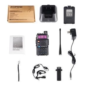 Image 5 - High Power 8W Baofeng UV 5R Walkie Talkie 10KM Portable CB ham Radio Station VHF UHF HF Transceiver Hunting UV5R Two Way Radio