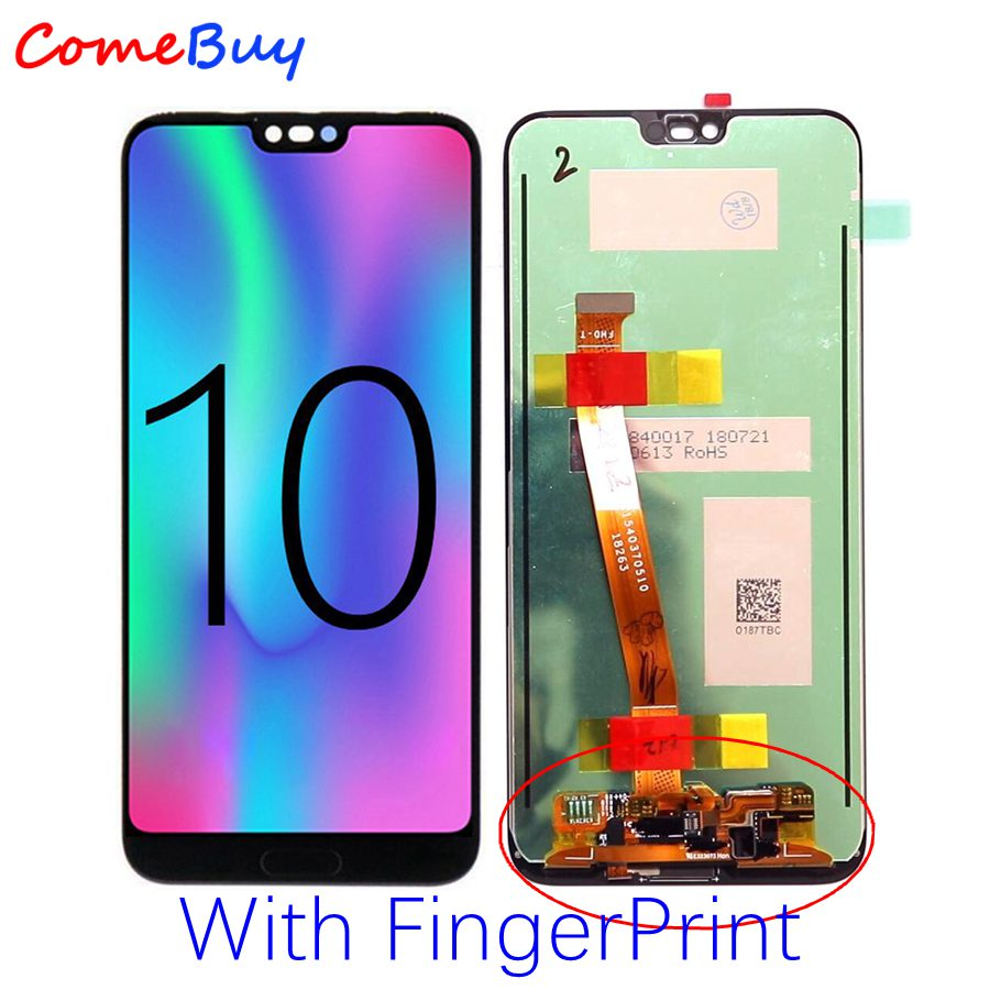 Display For Huawei Honor 10 LCD Display Touch Screen Digitizer For Huawei Honor 10 LCD Screen With Frame+FingerPrint Sensor-in Mobile Phone LCD Screens from Cellphones & Telecommunications    2