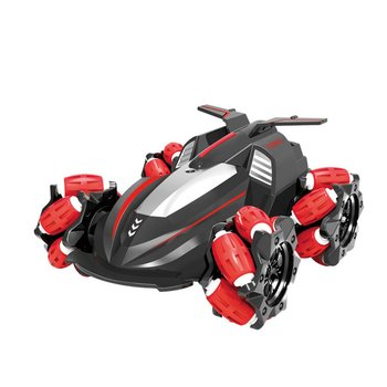 2.4G RC Stunt Car USB Charging Wireless Remote Control Four Drive Sidetrack Drift Twisting Off-Road Vehicle Side Driving RC Toy stunt remote control motorcycle deformation vehicle space vehicle drift light pack charging concept car 2 4g flip rc11 8