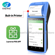 4G Android Handheld Mini POS PDA Terminal With Bluetooth Thermal Receipt Bill Printer 58mm WIfi Mobile POS Devices GZPDA08(China)