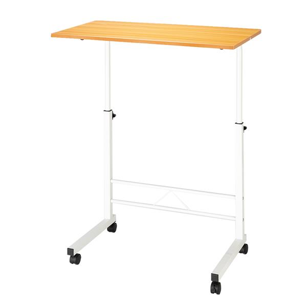Removable P2 15MM Chipboard & Steel Side Table Beech Wood Color Small, Office Desk Laptop Desk Standing Desk.solid  Durable