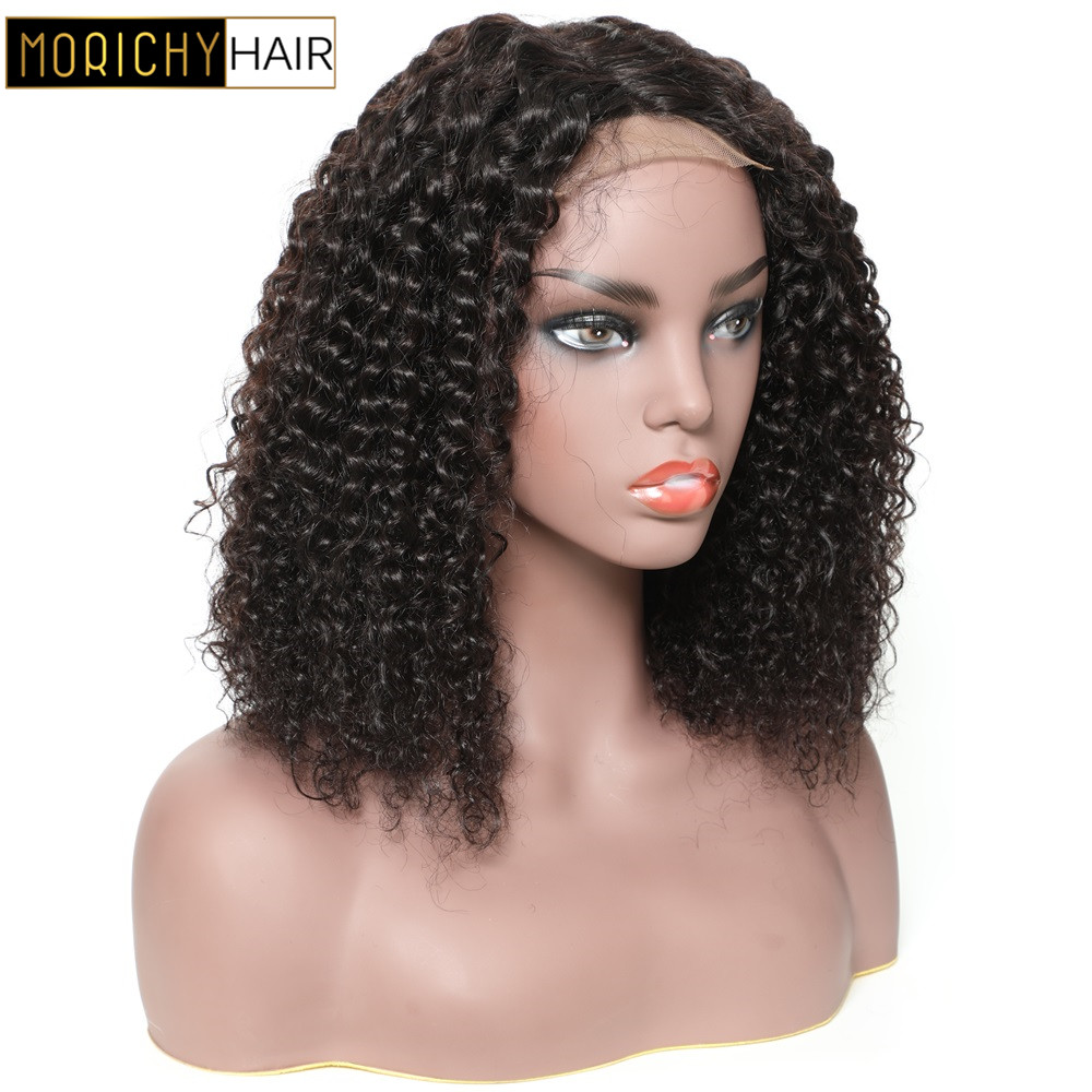Morichy Curly 4x4 Lace Closure Wig BOB Human Hair Wigs Pre Plucked Brazilian Lace Wigs For Black Women Non Remy Wigs 150 Density
