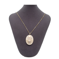 Long Sweater Necklace Chains Gold Ladybug Pendant with Cubic Zirconia for Women Party Jewelry 4998