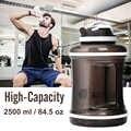 2.5L/85ozGym Flasche Hohe Capcity Wasser Flaschen BPA FREI Shaker Protein Water Kunststoff Handgriff Fitness Running Sport Wasserkocher