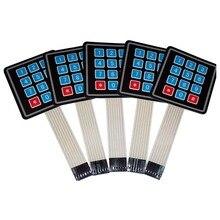 5 PCS 4x3 Matrix Array 12 Key Membrane Switch Keypad, for Arduino/AVR/PIC USA SHIP membrane keypad for 6av3637 1ml00 0gx0 slemens op37 membrane switch simatic hmi keypad in stock