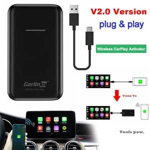 Wired Auto-Connect Carplay Carlinkit USB for OEM Original Black 13-2.0 Apple Update IOS