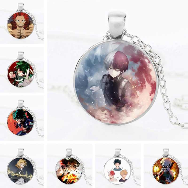 Anime Mijn Hero Academia Cartoon Ketting Acryl Hanger Zwarte Ketting Cosplay Party Accessoires Otaku Gift