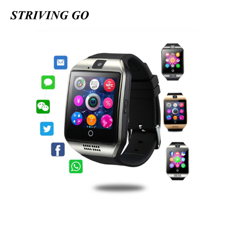 Smart Watch With Camera Q18 Bluetooth Smartwatch SIM TF Card Slot Fitness Activity Tracker Sport Watch PK DZ09 U8 T8 A1