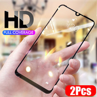 2-1Pcs Full Cover 9H Tempered Glass For Xiaomi Redmi Note 7 5 6 Pro Screen Protector For Redmi 7 K20 Pro 6A 5A 5 Plus Glass Film