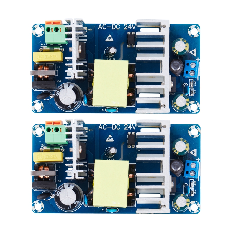 2pcs 24V Switching Power supply Board 4A 6A high power module bare board AC-DC Power supply Module Blue