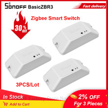 3PCS Itead SONOFF BASICZB R3 Universal Module Switch Zigbee Smart Switch Zigbee Breaker Module SmartThings APP Works With Alexa