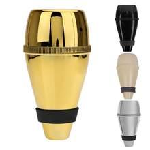 Liga de alumínio trompete mudo cortiça borda proteção anti-incômodo trompete reto mudo para acessórios de instrumento de jazz