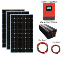 900w 3*300w 30v monocrystalline solar panel system kit charger for home machine Boat RV car