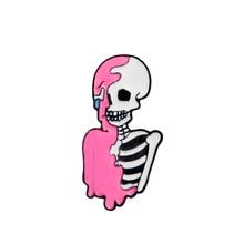 pink skeleton Enamel Pin Punk cool skull brooch Lapel Pin Simple icons Pins Button Badge Cartoon fashion Jewelry Gift pink skeleton enamel pin punk cool skull brooch lapel pin simple icons pins button badge cartoon fashion jewelry gift