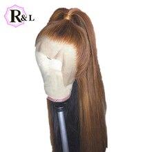 RULINDA 1B/27 Омбре цвет кружева передние человеческие волосы парики предварительно сорванные прямые бразильские не Реми волосы 13*4 кружевные парики 130% плотность