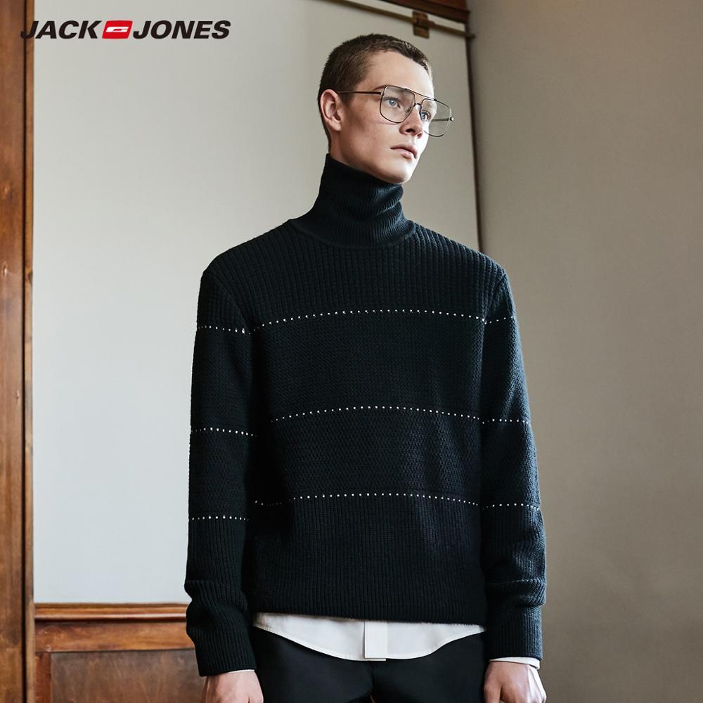 JackJones Men's New Fashion Solid Colour Turtleneck Sweater Basic 219324501