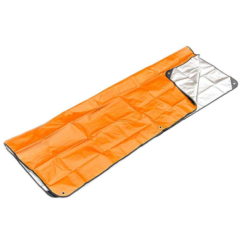 Outdoor First Aid Emergency Blanket Emergency Sleeping Bag Insulation Reflective Orange Aluminized Film