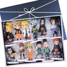ELBCOS Naruto Kakashi Lee Neji Gaara Sasuke Nara Shikamaru Itachi Deidara 10 12com Q ver. Model Action Figure Toys