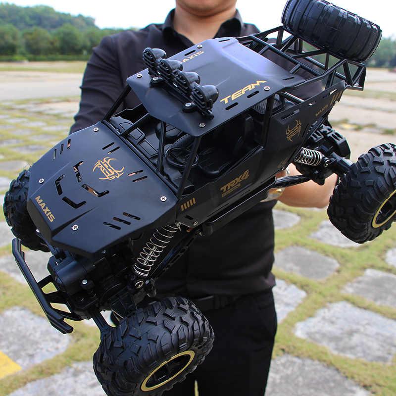 1:12 4WD RC Mobil Updated Versi 2.4G Radio Control RC Mainan Mobil Remote Control Mobil Truk Off-Road truk Anak Laki-laki Mainan untuk Anak
