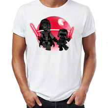 Degli Uomini T Shirt Darth Vader E Kylo Ren Divertente Impressionante Artwork Stampato Tee(China)