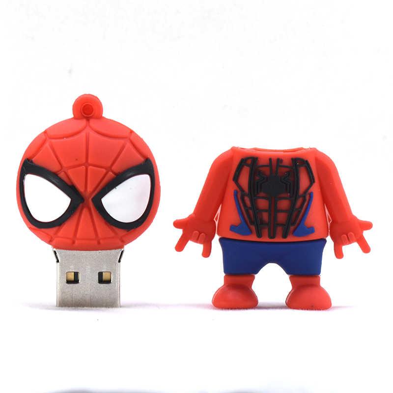U מקל פנתר Deadpool ספיידרמן Cartoon עט כונן 64GB 32GB 16Gb 8GB 4GB סופר גיבור Usb דיסק און קי 128GB 256GB זיכרון מקל