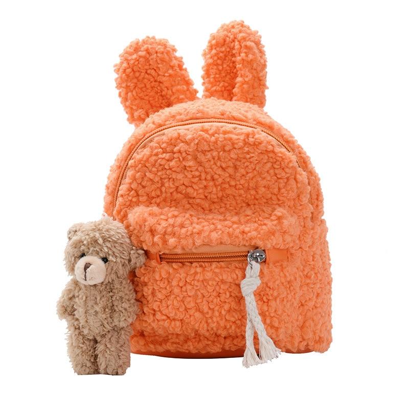 Kid's Backpack 2020 Korean Children's Plush Bag Shoulder Bag Simple Plush Rabbit Shoulder Bag Tide Child Girl Purse Student Bag
