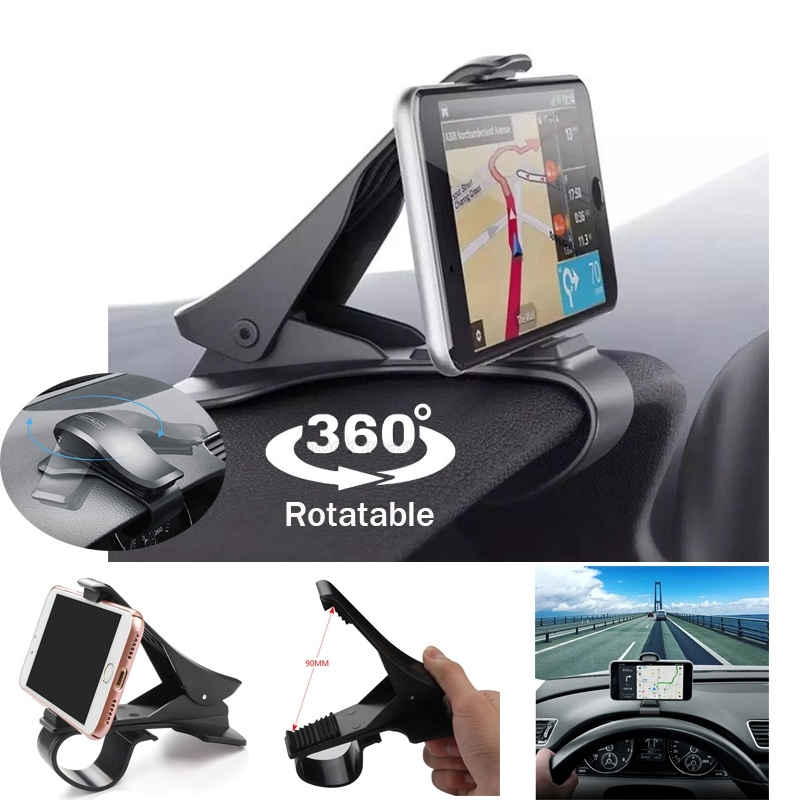 Universal 360 Degree Rotatable Car Dashboard Cell Phone GPS Stand NonSlip Holder
