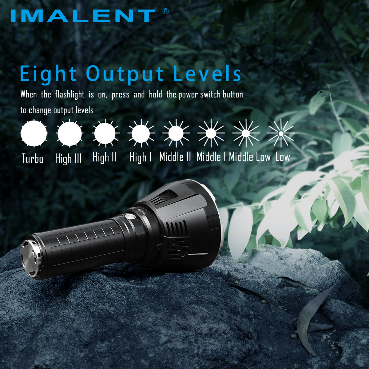 Купить с кэшбэком IMALENT R90TS LED Flashlight CREE XHP35 HI LEDs 36000LM High Power Flashlight with OLED Display  for Search and Rescue