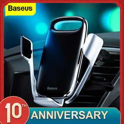 Baseus titular do telefone do carro para o iphone 11 pro max 15 w qi carregador sem fio para xiaomi redmi nota 8 pro rápido suporte de carregamento sem fio