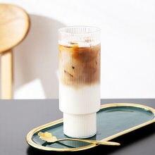 Café copo de vidro copo de café chá de leite cocktail vidro transparente canecas de vidro suco bebidas copo escritório em casa bar drinkware