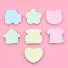 302  6 set /lot  Creative Lovely Shape Stickers Candy Color New Style Mini Memo Pads Kawaii Sticky Notes School Stationery