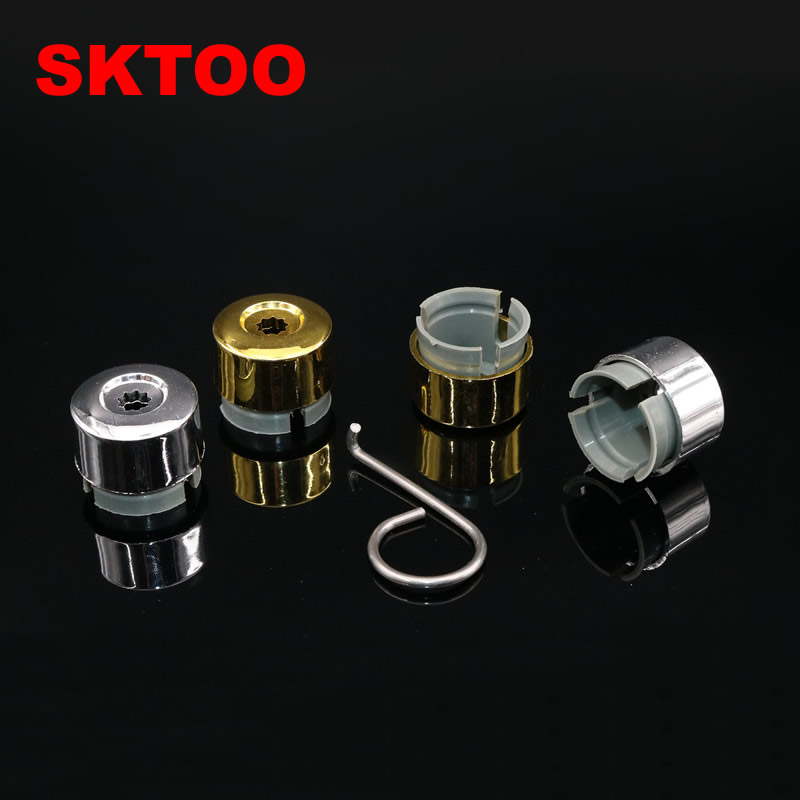 SKTOO 20pcs Color Chrome <font><b>Car</b></font> <font><b>Wheel</b></font> Lug <font><b>Nut</b></font> Bolt Cover <font><b>Caps</b></font> for VW Touareg 2004-2016 image