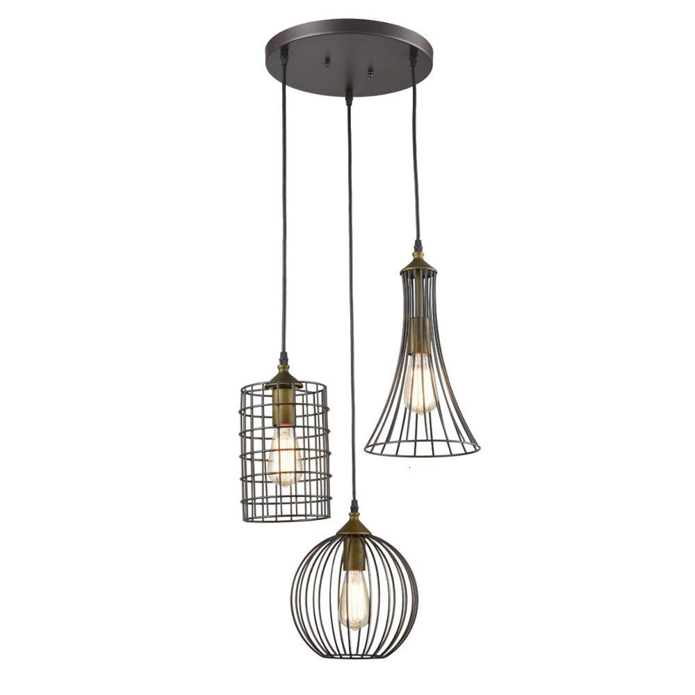 Iron Wire Pendant Light Ceiling Lamps
