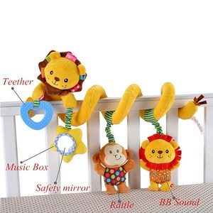 Image 4 - baby toys 0 12 months crib mobile bed bell rattles educational toy for Newborns Car Seat Hanging infant Crib Spiral Stroller Toy