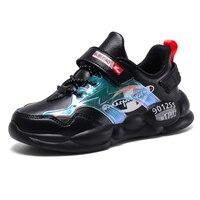ULKNN dziewczęce buty sportowe dziewczęce skórzane trampki obuwie slip dzieci studenci szkoła podstawowa wodoodporne buty do biegania w Trampki od Matka i dzieci na