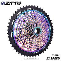ZTTO Ultimate MTB 12 Speed 9 50T Cassette ULT 12s XD Cassette Rainbow Steel Ultralight 12v Cassette 9 50T k7 Freewheel sprocket