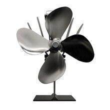 4 лопасти вентилятора печки тепловое питание печки вентилятор для камина эффективное распределение тепла ультра тихий камин древесины бревен горения экологический вентилятор