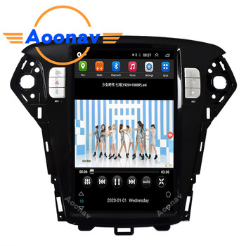 Car HD vertical screen autoradio For-FORD-mondeo fusion mk4 2011-2013 car radio multimedia player GPS navigation DVD player image