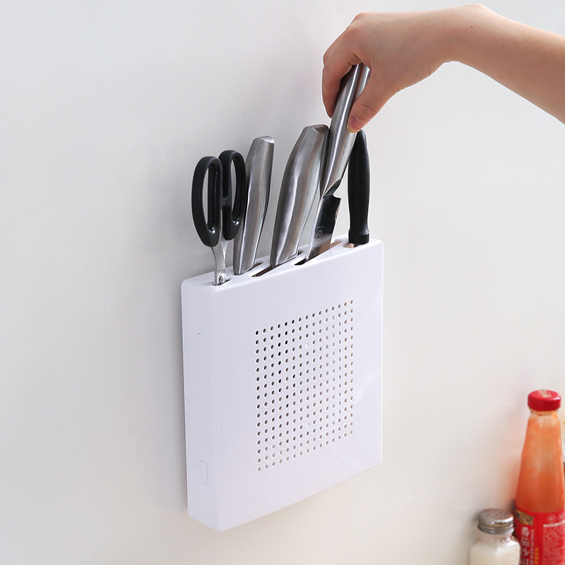 Kitchen Wall Hanging Knife Rack Holder  Bags for Chefs Receptacle Sticking Base Blocks