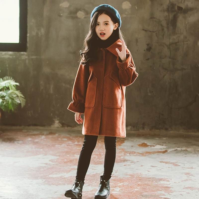Kid Jackets Winter Wool...