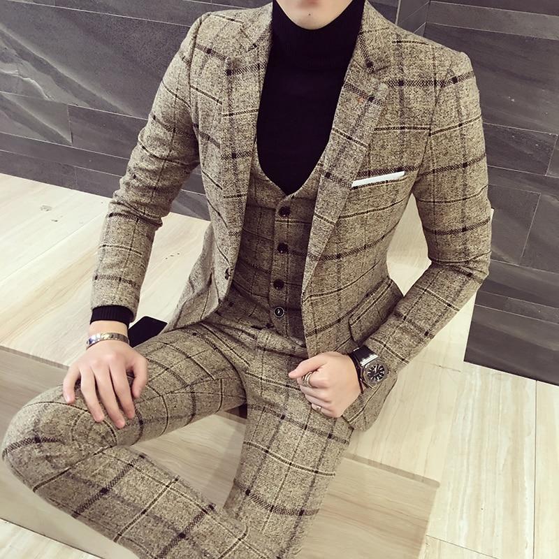 High quality men suits mens three-piece set
